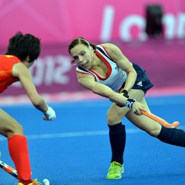 Kate Walsh, right, was back in action for Team GB, who were beaten by China