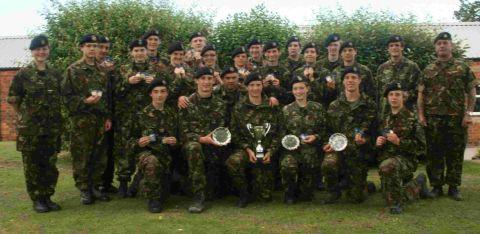Taunton School cadets shine at camp