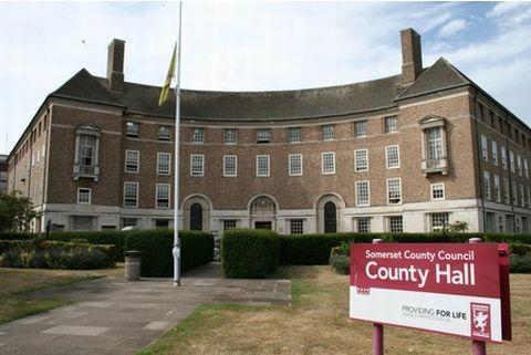 This is The West Country: County Hall in Taunton.