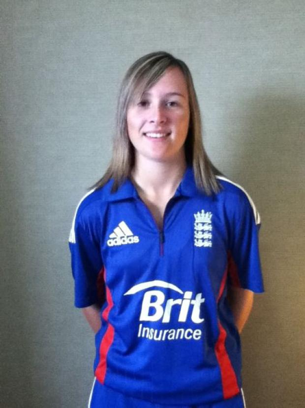 England Under 19 training for Lympsham cricketer Sophie Luff