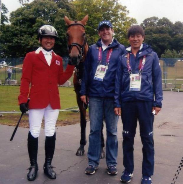 ALSUSHI Negera, 'Pretty Darling', Matt Glentworth and Takiyaki Yamira at Greenwich Park during the Olympic Games.