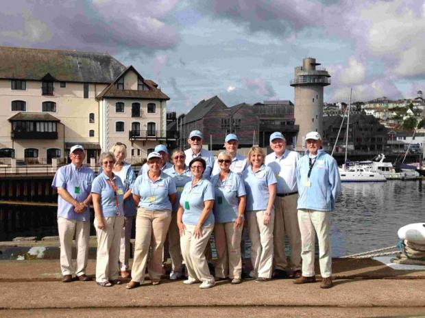 Falmouth's Cruise Ship Ambassadors have won awards for the warm welcome they offer visitors