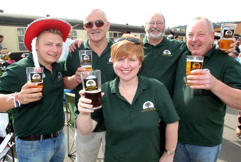 QUANTOCK Brewery team members James Higgins, Rob Rainey, Cheryl Ford, Ken Carson and Ken Oxley. PHOTO: Steve Guscott