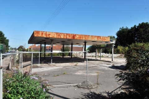 This garage site in Bristol Road has been an eyesore for several years.