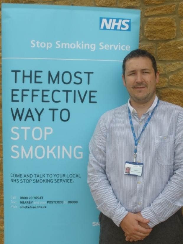 Greg Price, manager of the Devon Stop Smoking Service