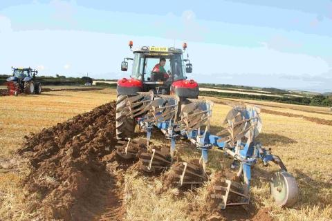 Helston and St Keverne Young Farmers put their shoulders to the plough for funds