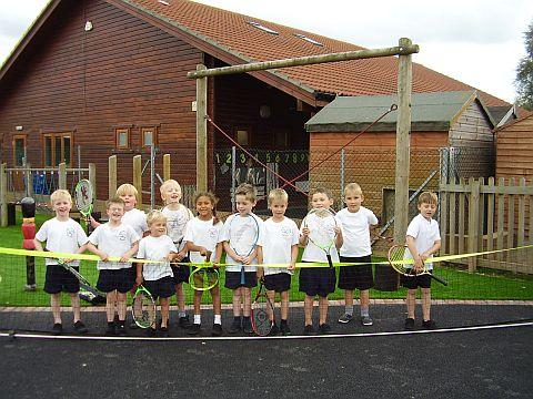 Burnham Infants get hands on at Avenue Tennis club sessions