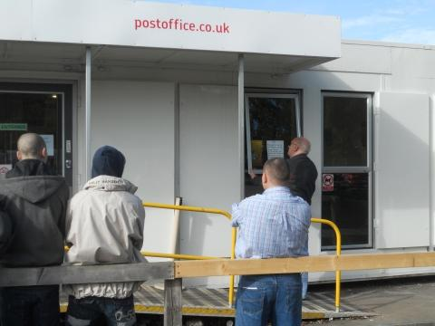 Queue forms after Post Office mishap