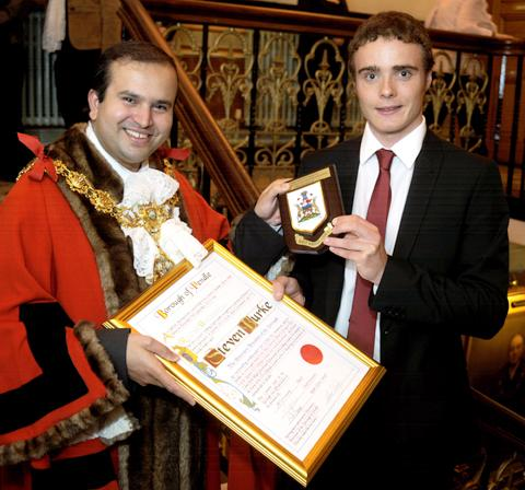 This is The West Country: Steven Burke becomes a freeman of Pendle