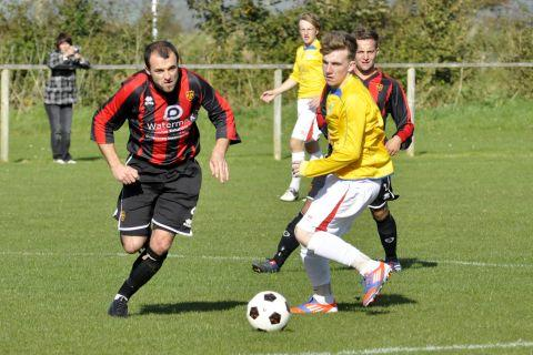 Luke McErlain (left) in action earlier this season.