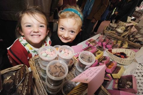 Chloe Slade and Willow Rivers at Burnham Food Festival. Photo: Steve Richardson.