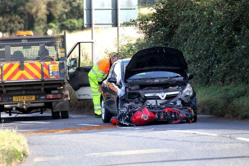 The scene of the incident on the A39 between Williton and Washford Cross. PHOTO: Steve Guscott