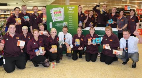 Sainsbury's shoppers dig deep to feed the hungry