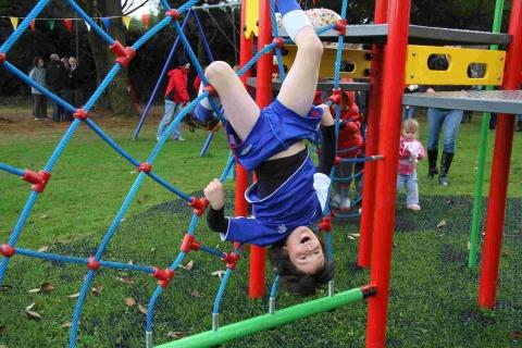 Excitement as Mawgan play area unveiled