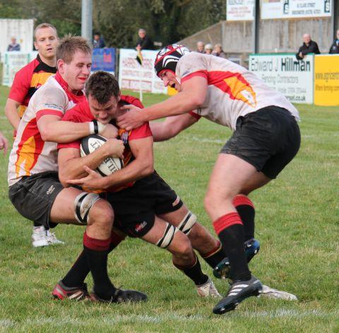 Dan Kemmish secures Bridgwater's win with the team's third try. PHOTO: David Pomeroy