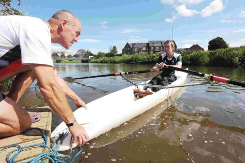 IAN Payne puts County Gazette reporter Daniel Milligan through his paces on the water.