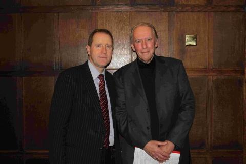 Taunton head teacher Dr John Newton with Dr Chris Waller