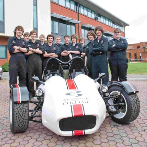 Bridgwater students turn bike into a trike