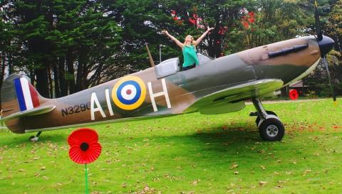 Spitfire launch for Cornwall's Poppy Appeal