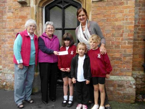 Disbanded East Brent Happy Circle helps out school