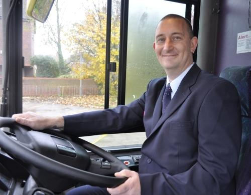 First bus driver Craig Hudson.