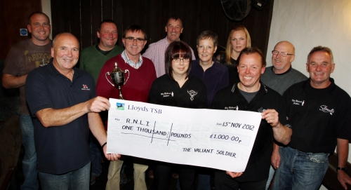 FROM left, back, Neil Gregory, Steve Eggar, Paul  Richards, Alison Williams, Emma Tennant and Bryn  Corfield; front, Derek Willi