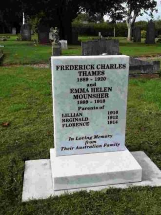 The headstone for Melissa George's long lost ancestors.