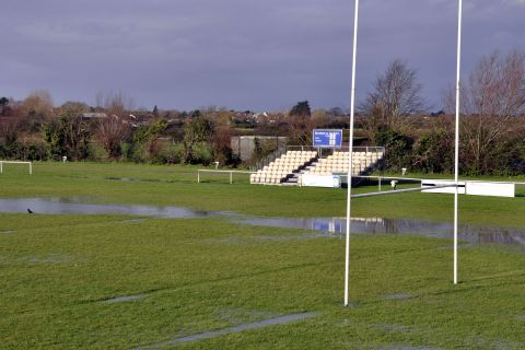 A flooded BASC Ground on Sunday. PHOTO: Mike Lang