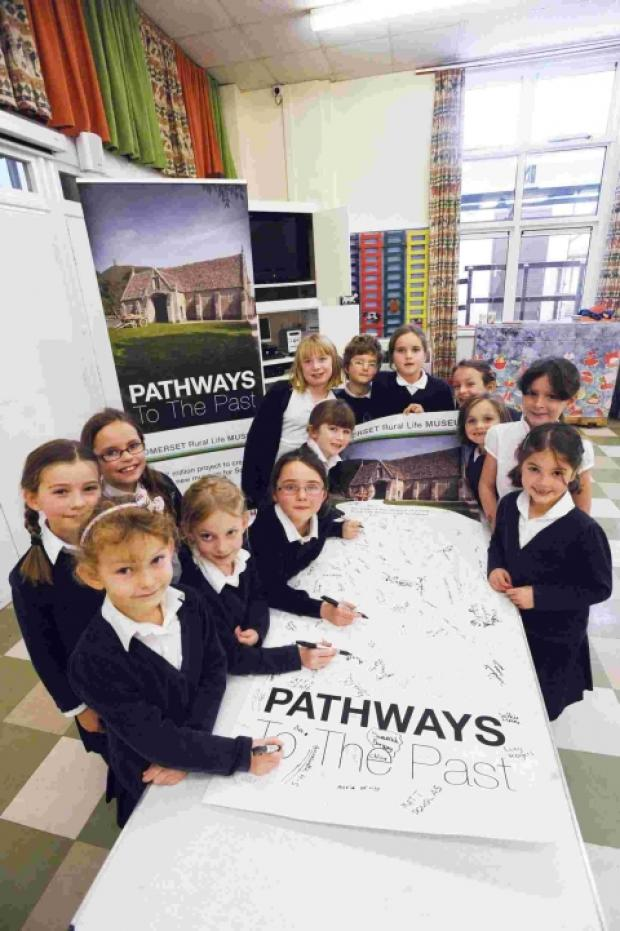 Pathways to the Past for Catcott pupils