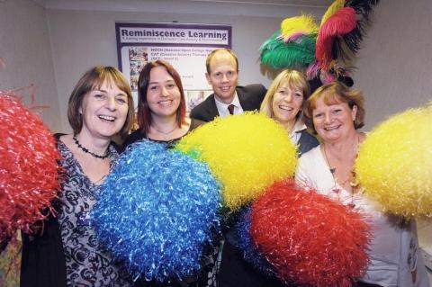 This is The West Country: Celia Smith, Emma Green, Claire Hannigan and Fiona Mahoney, of Reminiscence Learning, with County Gazette editor A