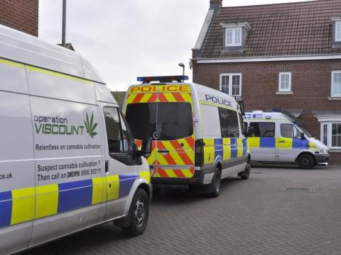 Police carried out a drugs warrant in Burnham. Photo: Mike Lang