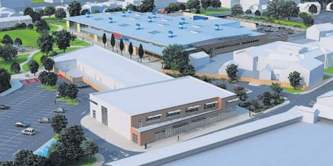 This is The West Country: How the proposed Tesco store at Northgate could look.