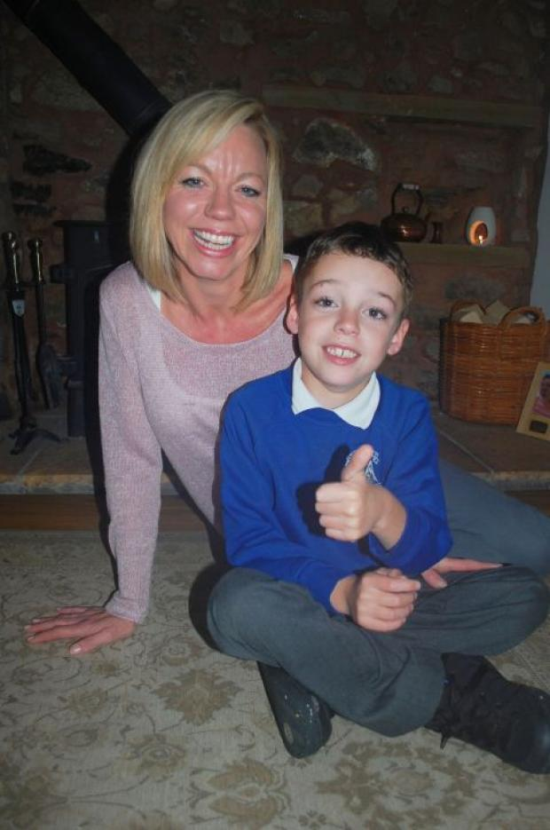 This is The West Country: Josh Mills, of the Packet's Footprints campaign, with his mum Jo.