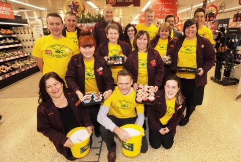 Fundraising staff at Sainsbury's, Hankridge Farm.