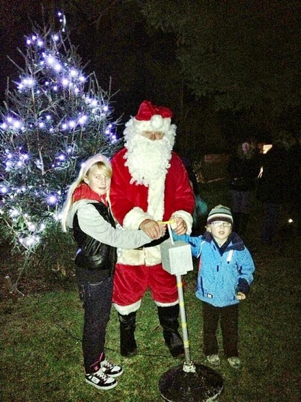 This is The West Country: The switching on of the Christmas tree.