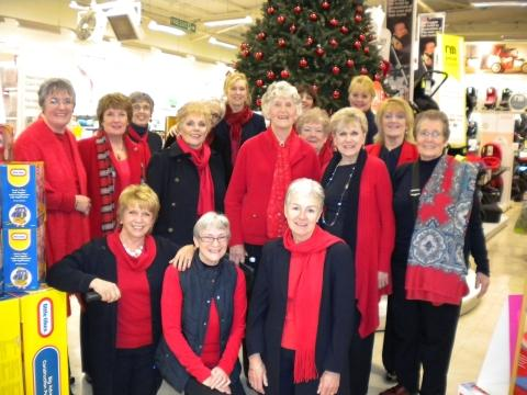 Joan Bryant, fourth left, second row, during her last appearance with Somerset Hills Chorus.