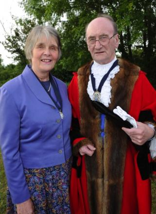Mayor and Mayoress Terry and Ann Hall.