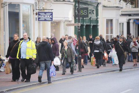 Taunton shopping: traders' reaction to Christmas business
