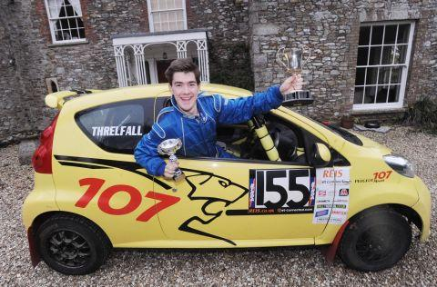 Junior rally driving hopeful Harry Threlfall