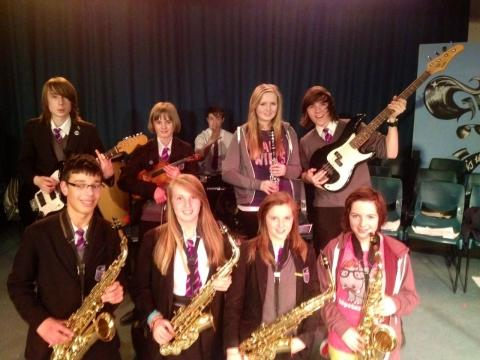 Musicians at the academy music and drama event.