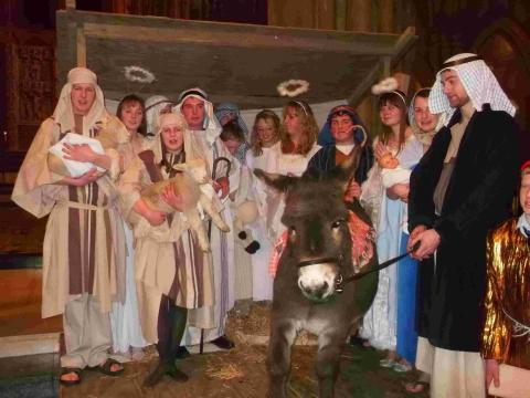 Helston young farmers live nativity role