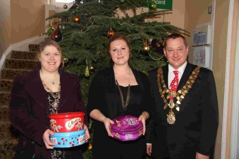Helston's mayor and mayoress make Christmas visits