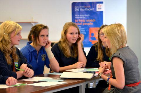STUDENTS at West Somerset Community College grill EDF Energy's Jess Batts about the world of work.