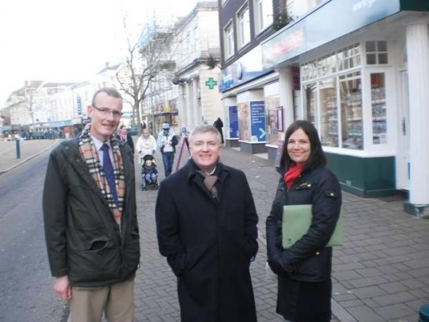 This is The West Country: MARK Prisk MP, centre, with Mid Devon district councillors Neal Davey and Sue Griggs