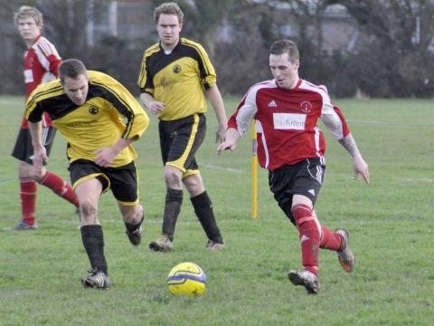 Four goal hero Claude Bitton on the ball. PHOTO: Mike Lang