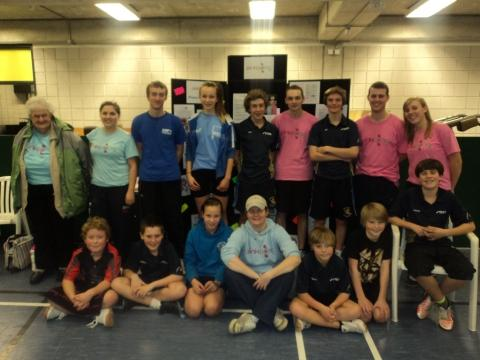 Members of Bridgwater and District Table Tennis League.