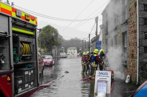 Helston flood firefighters who saved Christmas are 'heros'