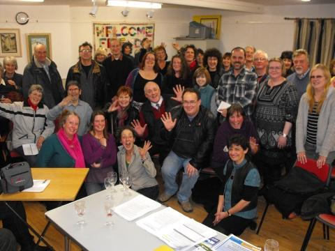 Some of the fifty artists, performers and event organisers at the 2013 Festival meeting.