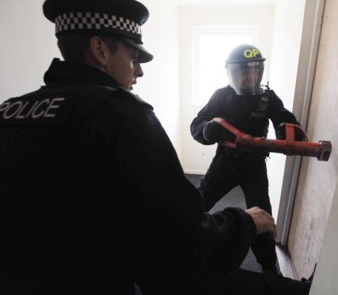 Drugs raids, Taunton.
