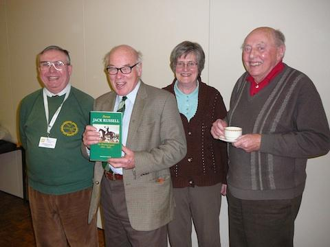 (from left) Crediton Area History & Museum Society chairman George Palin, vice chairman Sandra Cooper and Crediton historians John Heal and Robin Langhorne with guest speaker Charles Noon at the Boniface Centre in Crediton